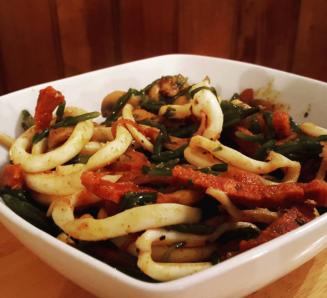 Squid and Chorizo