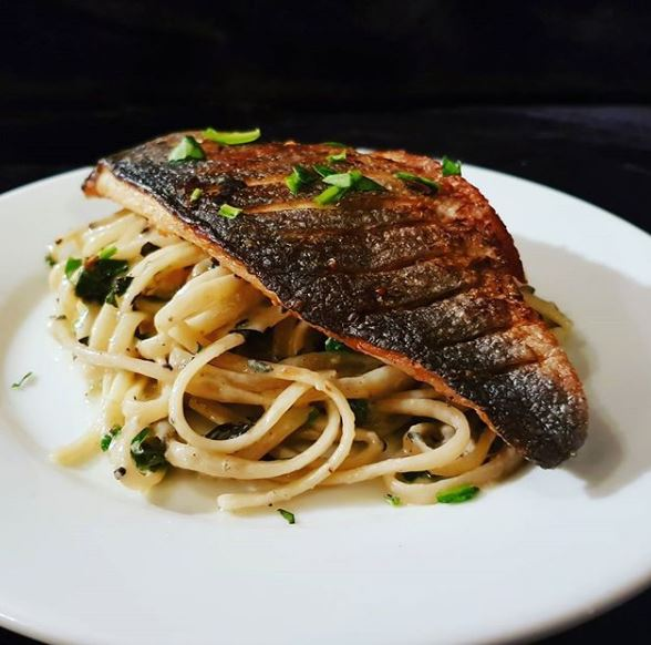 BR6 with Blue Cheese Linguine